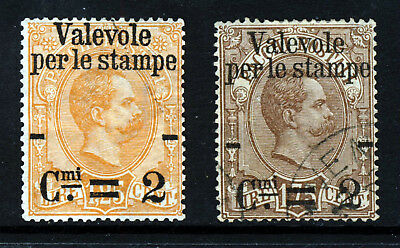 ITALY 1890 Parcel Post Surcharged L1.25 & L1.75 SG 52 & SG 52 VFU