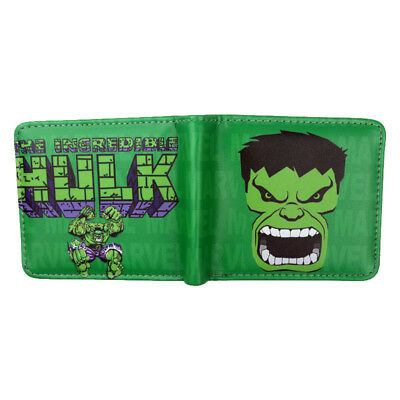 Marvel Comics Iron Man/Hulk/Captain America Wallet card holder Coin Purse Gift