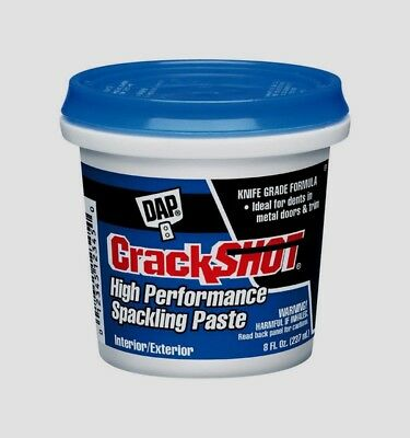 NEW!! DAP CrackShot Ready to Use Spackling Compound 8 oz Sandable  Paintab 12374