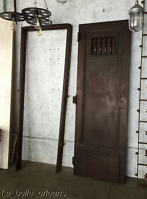 RARE SOLID MAHOGANY INTERIOR DOOR WITH FRAME / RAISED PANELING . L@@k!!