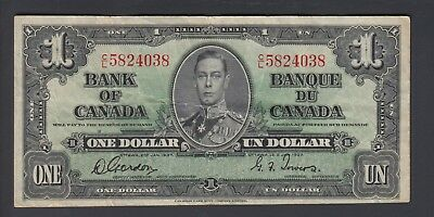 1937  $1 Dollar - Gordon Towers - Prefix C/L - Bank of Canada - F142