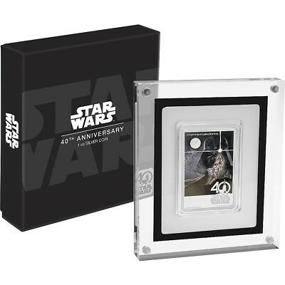 STAR WARS - 40TH ANNIVERSARY - POSTER - 2017 1 oz Pure Silver Coin NZ MINT