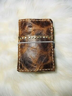 Like Foxy Fix Travelers Notebook Planner Pocket Size Wide  Distressed Leather