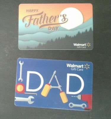 New Walmart Fathers Day Gift Card 2018, Sun Going Down Collectible, Mint