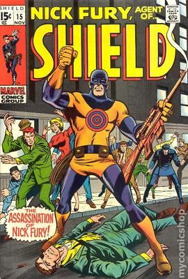 Nick Fury Agent of SHIELD (1st Series) #15 1969 GD/VG 3.0 Stock Image Low Grade