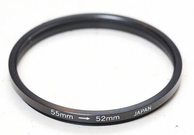 Step-down ring, 55mm to 52mm, 55-52, made in Japan