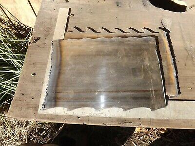 Knife making steel from saw mill resaw blade 2-3 pounds of metal high carbon .91