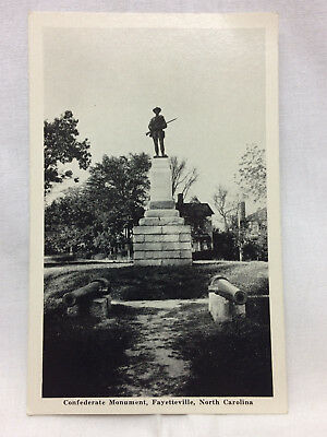 Vintage Postcard Fayetteville North Carolina Confederate Monument Not Used