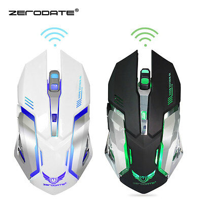 New Adjustable DPI Ergonomic Wireless Gaming Mouse with 6 Buttons + USB Receiver
