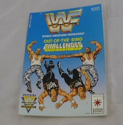 1991 WWF Out of the Ring Challenges Action Comic Book Valiant Wrestling