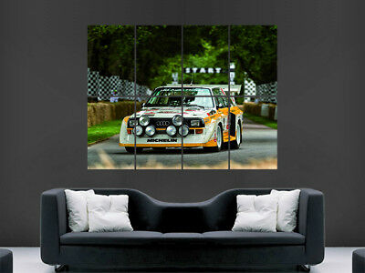 Picture Poster Print Art A0 A1 A2 A3 A4 1009 AUDI SPORT QUATTRO S1 RALLY