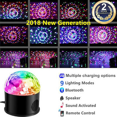 DJ Party Strobe Light USB RGB LED Disco Ball Effect Lighting Birthday w/ Remote