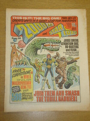 2000Ad #86 British Weekly Comic Judge Dredd *