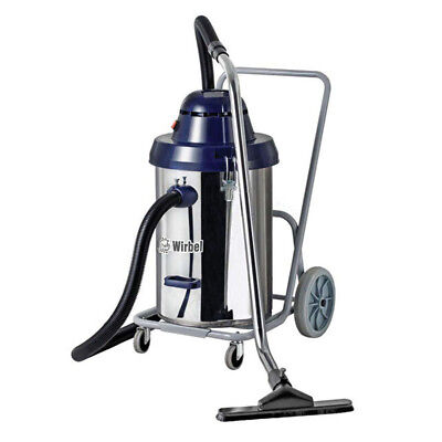 Professional Wet Vacuum 54 Litre with  Easy Tilting Dump Function by Wirbel