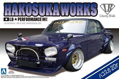 Aoshima 1/24 Liberty Walk(3)Model Car Kit LB Works Hakosuka Skyline C10 2Dr GT-R