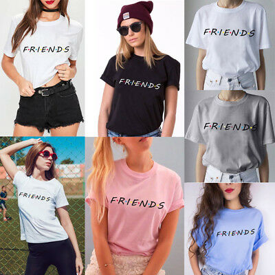 Women Summer Loose Short Sleeve Letter Printed T Shirt Casual Tops Tee Blouse