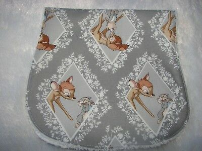 Grey Bambi & Thumper Burp Cloth Handmade