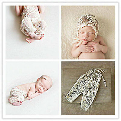 Fashion Baby Girl Lace Floral Romper Jumpsuit Hat Photography Costume 2017