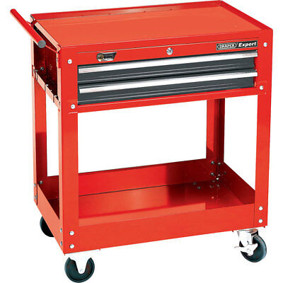 Draper Expert 2 Level Trolley Red