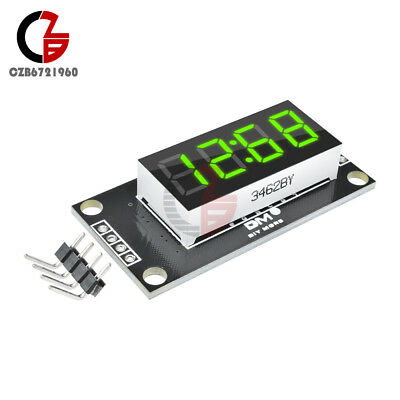 "Green TM1637 0.36"" inch 7-Segment 4Digit LED Display Clock LED Tube Board Module"