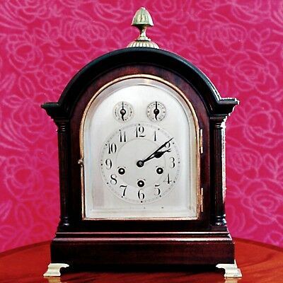 Antique Junghans Wurttemberg Bracket 8-Day Mantel Clock With Westminster Chimes