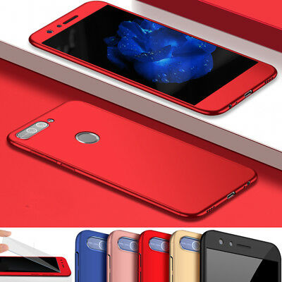 New Hybrid 360° Shockproof Hard Case + Tempered Glass for Huawei Honor9 Lite 8/7