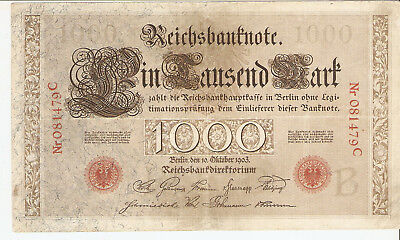 1000 Mark, Reichsbanknote Eintausend Mark, 1903