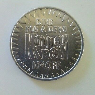 1980's DIME FOR A DEW MOUNTAIN DEW TOKEN