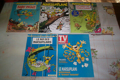 LOT 5 BD MARSUPILAMI 3 CARTONNEES 1 BROCHEE & une REVUE