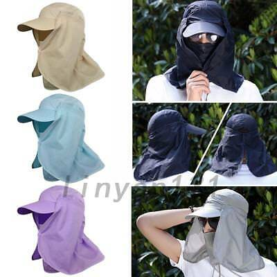 Unisex Outdoor Sport Fishing Hiking Sun Hat UV Face Neck Protect Waterproof New