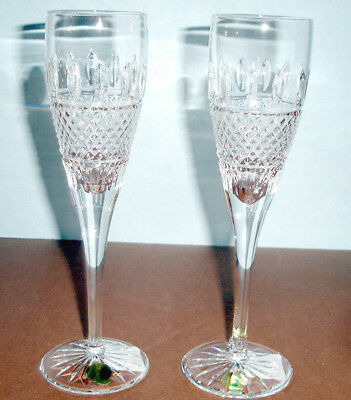 Waterford IRISH LACE Champagne Flute(s) SET OF 2 Crystal #160696 New