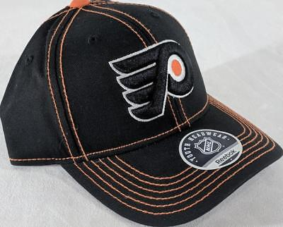 23f5e92e057 LZ Reebok Youth One Size OSFA Philadelphia Flyers NHL Baseball Hat Cap NEW  E99