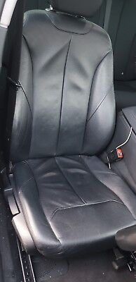 Bmw F30 3 Series Black Leather Interior Seats Front 2012 2018 M