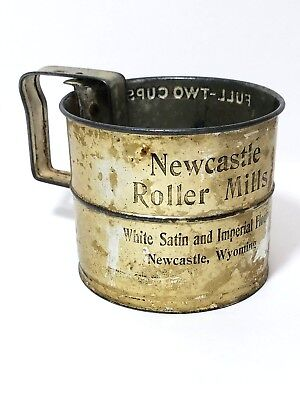 Vintage Advertising Flour Sifter Newcastle, WY Roller Mills