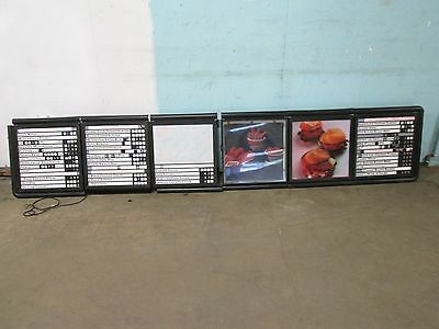"""mainstreet"" Commercial Lighted Wall/ceiling Mount 111""w (6) Panels Menu Board"