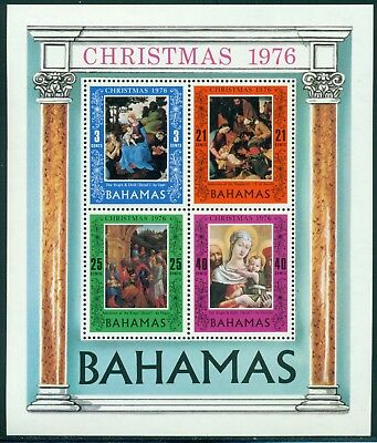 Bahamas Scott #397a MNH S/S Christmas 1976 ART $$