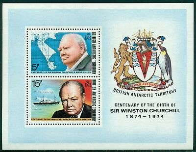 British Antarctic Territory Scott #63a MNH S/S Sir Winston S. Churchill CV$15+