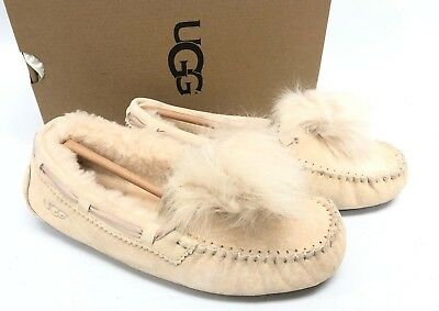 a0f4493660 UGG Australia Dakota Pom Pom Cream Moccasin Slipper womens size 1019015  Shoes