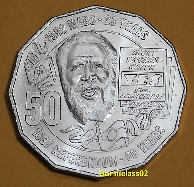 2017 Australian Eddie Mabo Pride and Passion 50 cent coin EX Mint Bag 123f