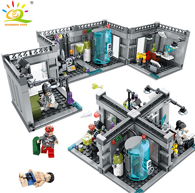 City Police Lab Series Building Blocks with Action Figures Toys