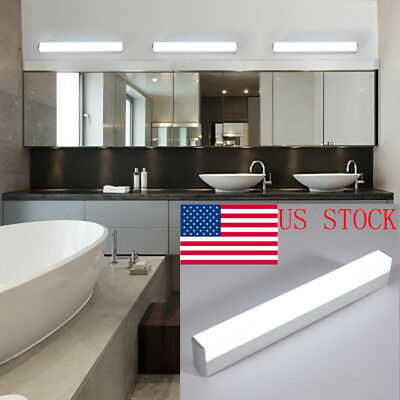 Modern LED Bathroom Front Mirror Light Acrylic Wall Fixture Waterproof US STOCK