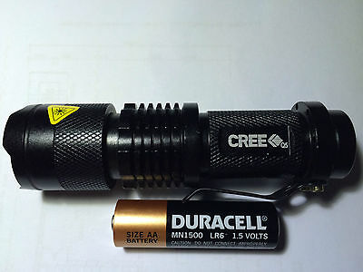 Led Torch Adjustable Focus With Belt Clip And Battery Choice