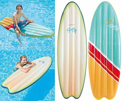 Intex Inflatable Giant Ride On Surfboard Swimming Pool Beach Mat Float Lilo Toy
