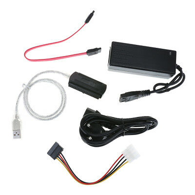 SATA/PATA/IDE Drive to USB 2.0 Converter Adapter Cable for HDD w/ External Power