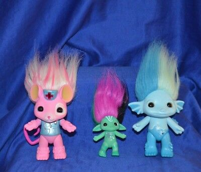 Troll The Zelfs Lot of 3 - E-Vet Crystal Wishes, Mermalade and Spellinda