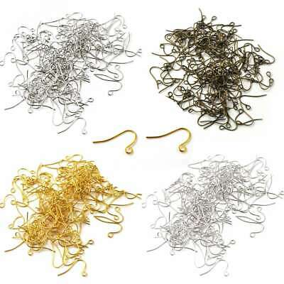 140pcs Iron Ear Hook Wires DIY Crafts Earring Finding Wholesale 21x13x0.7mm