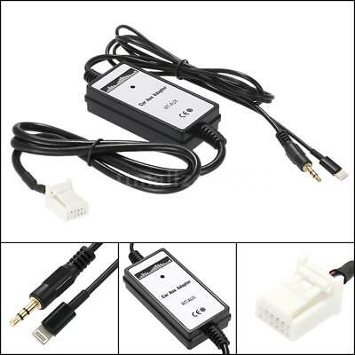Car 3.5mm Aux in MP3 Audio Adapter USB Interface For Toyota RAV4 2003-2010 E5C1