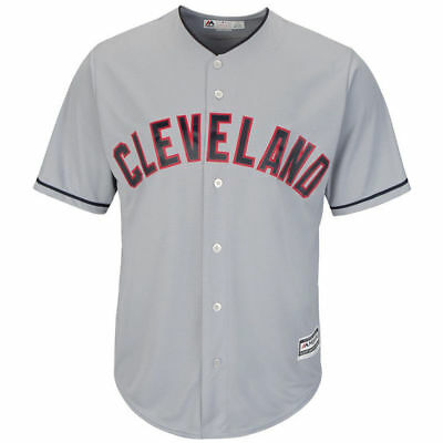 Cleveland Indians Majestic Athletic Cool Base Road Baseball Jersey