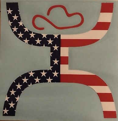Hooey American Flag Sticker Decal New Released Large Size