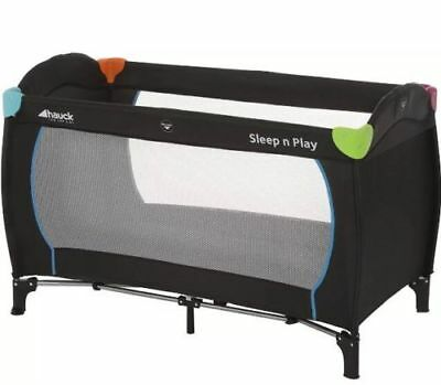 Hauck Multicolour Black Sleep N Play Center Baby Travel Cot / Playpen & Mattress